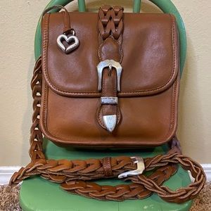 Brighton vintage brown/silver braided leather bag